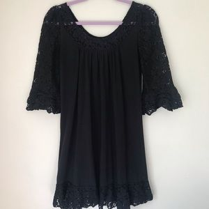 MODA International Black Knit Dress/Tunic-Small